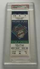 Tony Gwynn 3000th Hit Full Ticket PSA 9 San Diego Padres vs Expos 8/6/99