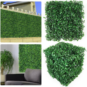 """10pcs 10""""x10"""" Artificial Boxwood Panels Topiary Hedge Plant Privacy Grass Panel"""