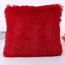 Winter Fur Plush Square Throw Pillow Case Sofa Waist Cushion Cover Home Decor