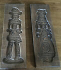 """2 LARGE WOODEN WALL PLAQUES  MADE IN HOLLAND  LADY & MAN (D627) 17-1/2"""" TALL"""