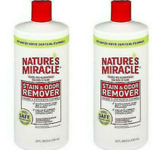2 Nature's Miracle Stain Odor Remover for Dogs, Enzymatic Formula Dog Stain 32oz