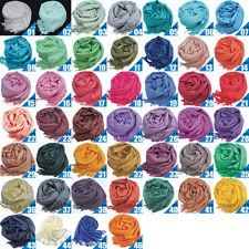 wholesale Long Solid Ladies Women Vintage Cashmere Pashmina Scarf Wrap Shawl