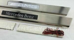 Mercedes SL R231 Illuminated Sill Kick Plates AMG BRABUS MERCEDES BENZ