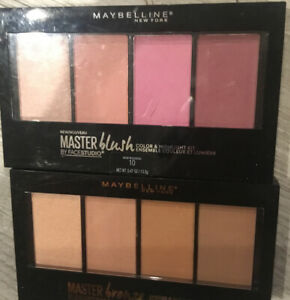 New Lot Of 2 Maybelline Master Bronze & Highlight Kit #10 Different