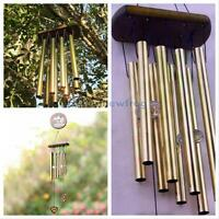 Gifts Large 8 Tubes Woodstock Wind Chime Home Garden Noisemaker Windbell Decor