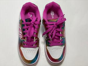 Heelys Skate Shoes Size 5 Youth Girls Purple Motion Plus EUC