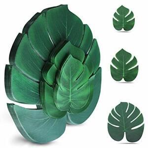 Palm Leaves Artificial Tropical Monstera Plant 100Pcs Fake Leaves Safari
