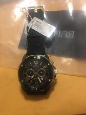Bulova Men 98B278 Marine Star Quartz Black Silicon Strap Chronograph Sport Watch