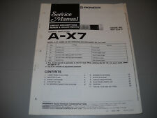 PIONEER A-X7 STEREO AMPLIFIER, ORIGNAL PAPER MANUAL