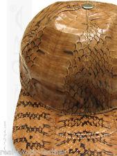 Genuine Snakeskin Baseball Cap Hat  ## Brown ## Rat Snake