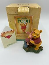 "Disney Simply Pooh Pooh & Piglet Hugging ""Hugs Are Better Than Honey"" Figurine"