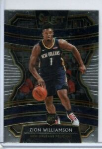 ZION WILLIAMSON 2019-20 Panini Select ROOKIE #1 Concourse New Orleans HOT RC