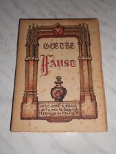 Goethe : Faust - A l'enseigne du Pot Cassé - 1942