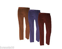 Mens Expandable Waist Band Cords Trousers Wine Navy Gold w32 to 48 L29 31
