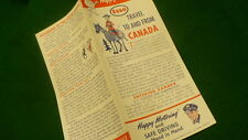 Esso Happy Motoring Travel to & from Canada brochure 1959 E263