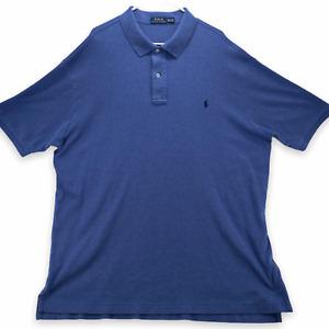 Ralph Lauren Men's Short Sleeved Polo Shirt Size 2XLT Tall Blue Cotton