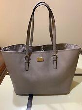 Michael Kors Signature Jet Set Grey Tote Saffiano Leather Handbag