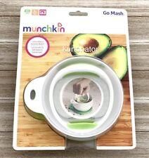 Munchkin Go Mash Food Masher New Easy Travel - Microwave Safe - Bpa-Free