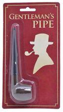 Fake Gents Old Man Sherlock Victorian Detective Wooden Smoking Pipe Fancy Dress
