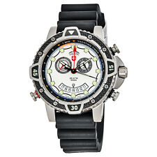 Swiss Military Typhoon Yachting Timer Silver Dial Mens Watch 24801