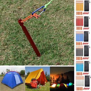 21PCS Tent Metal Pegs Heavy Duty Aluminium Titanium Ground Stakes Camping Long