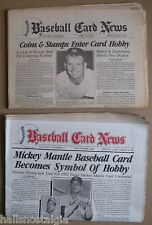 """Baseball Card News"" Hobby Publications: 1983 & 1986 w/Mickey Mantle covers"