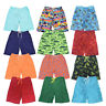 Kids Elasticated Swim Summer Shorts  Hawiian Floral Print Beach Mesh Lined
