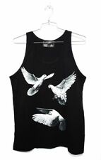 DOMREBEL DOM REBEL Doves Graphic Tank Shirt Black M