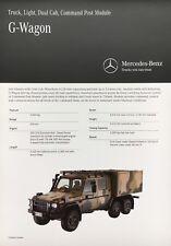 Mercedes Benz G Wagon Military 6x6 Dual Cab Command Post Brochure Prospekt Army