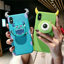 3D Cute Disney Devil Horn Doll Stand Holder Case Cover for iPhone Xs Max Xr 7 8+