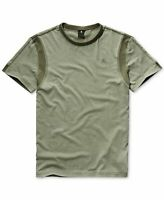 G-Star Raw Mens T-Shirt Green Size Small S Mix Media Trim Crew Tee $60 #052