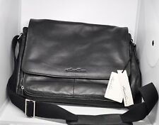 Kenneth Cole Messenger Bag - Black Leather