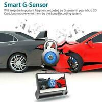"""1080P 4 """"Dual Lens Auto DVR Rückfahrkamera Video Dash Recorder G-Sensor Cam H4C7"""