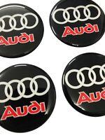 3D Audi  Aufkleber Radkappen  4x 58 mm Nabendeckel Hengeldeckel Emblem