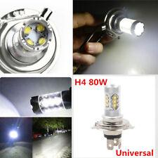 80W H4 Car Motorcycle COB LED Headlight Hi/Lo Beam Front Light Bulb Lamp 1500LM