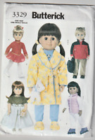 Butterick 3329 18 Inch Doll Clothes Pattern 5 Outfits~ Uncut