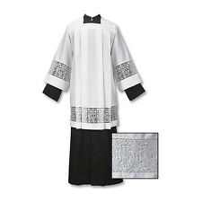 Latin Cross and IHS Lace Surplice, Large - Free Shipping
