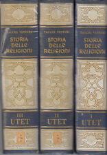 STORIA RELIGIONE TACCHI VENTURI PIETRO STORIA DELLE RELIGIONI 1962 LIBRO UTET