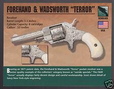 FOREHAND & WADSWORTH TERROR REVOLVER .32 Gun Atlas Classic Firearms PHOTO CARD