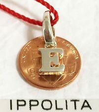 $195 IPPOLITA Letter Initial E Sterling Silver Charm Pendant Spring Bail Women