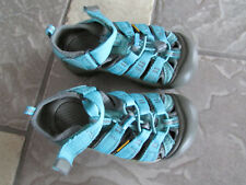 KEEN WATERPROOF SANDALS YOUTH 11 BOYS GIRLS 11 CLOSED TOE EASY TIE FREE SHIP