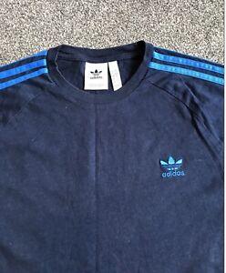 Adidas Originals California T Shirt Mens Large Navy With Blue Stripes Rare