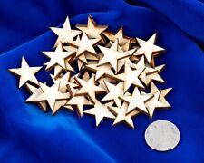 52 qty Small 1 inch Stars Wood Crafts Flag DIY