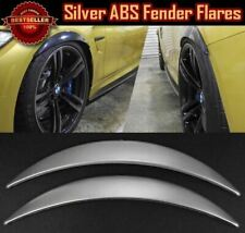 """1 Pair Glossy Silver 1"""" Diffuser Wide Body Fender Flares Extension For Ford"""