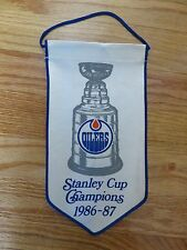 "1986-87 EDMONTON OILERS STANLEY CUP CHAMPIONS 10"" Banner GRETZKY MESSIER FUHR"