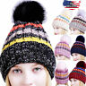 Women Men Winter Spring Crochet Knit Slouchy Beanie Beret Cap Slouch Ski Hats US