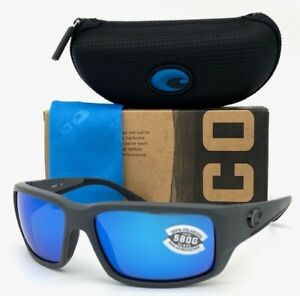 Costa Del Mar Fantail Matte Gray / Blue Mirror 580G  59mm Polarized Sunglasses