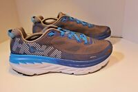 Hoka One One Excellent Condition Men's 12 Gray/Blue Running Sneakers Preowned