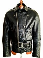 60s SHEILDS Perfecto Police Motorcycle Biker Cafe Racer Bike Brando Jacket Coat