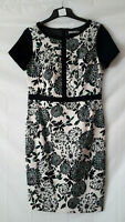 M & S WOMAN FLORAL DRESS - BLACK PRINT - SIZE 12. SPECIAL OCCASION/SAME DAY POST